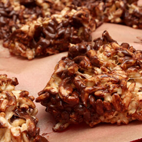 Rice Krispies Treats with Chocolate and Pretzels